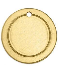 Metall-Ring, Rund, D: 20 mm, Lochgröße 1,85 mm, Stärke: 1 mm, Messing, 6 Stck./ 1 Pck.
