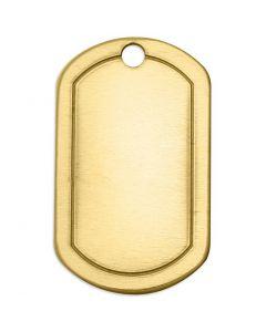 Metall-Ring, Ovales Rechteck, Größe 32x20 mm, Lochgröße 2,85 mm, Stärke: 1 mm, Messing, 4 Stck./ 1 Pck.