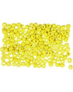 Rocaille Seed Beads, D: 3 mm, Größe 8/0 , Lochgröße 0,6-1,0 mm, Gelb, 500 g/ 1 Pck.