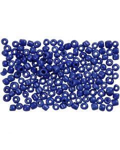 Rocaille Seed Beads, D: 3 mm, Größe 8/0 , Lochgröße 0,6-1,0 mm, Blau, 500 g/ 1 Pck.