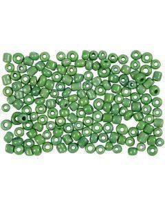 Rocaille Seed Beads, D: 3 mm, Größe 8/0 , Lochgröße 0,6-1,0 mm, Grün, 500 g/ 1 Pck.