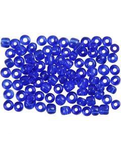 Rocaille Seed Beads, D: 4 mm, Größe 6/0 , Lochgröße 0,9-1,2 mm, Kobaltblau, 500 g/ 1 Pck.