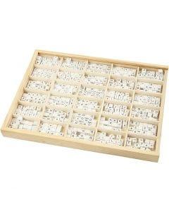 Buchstaben-Perle, A-Z, &, #, ?, Größe 8x8 mm, Lochgröße 3 mm, Weiß, 750 sort./ 1 Pck.