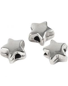 Abstands-Perle, Größe 5,5x5,5 mm, Lochgröße 1 mm, Versilbert, 3 Stck./ 1 Pck.