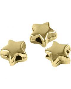 Abstands-Perle, Größe 5,5x5,5 mm, Lochgröße 1 mm, Vergoldet, 3 Stck./ 1 Pck.