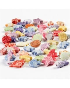 Pastell-Mix, Größe 9-12 mm, Lochgröße 1,2 mm, 175 ml/ 1 Pck., 110 g