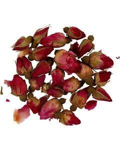 Trockenblumen, Rosenknospen, L: 1 - 2 cm, D: 0,6 - 1 cm, Dunkelpink, 1 Pck.