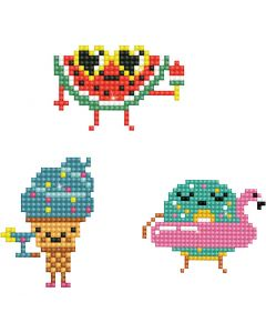 Diamond Dotz, Emojis, Größe 18x10 cm, 1 Pck.