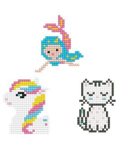 Diamond Dotz, Kätzchen, Meerjungfrau, Pony, Größe 18x10 cm, 1 Pck.