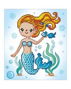 Diamond Dotz, Kleine Meerjungfrau, Größe 20x20 cm, 1 Pck.