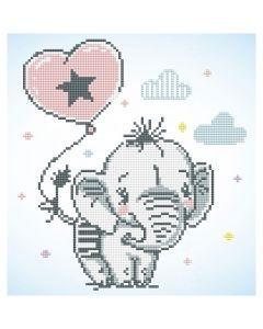 Diamond Dotz, Baby-Elefant, Größe 28x35,5 cm, 1 Pck.