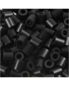Bügelperlen, Größe 5x5 mm, Lochgröße 2,5 mm, medium, Schwarz (32220), 6000 Stck./ 1 Pck.