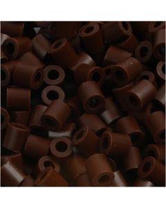Bügelperlen, Größe 5x5 mm, Lochgröße 2,5 mm, medium, Braun (32229), 1100 Stck./ 1 Pck.