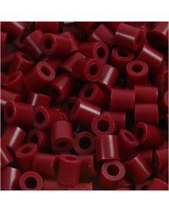 Bügelperlen, Größe 5x5 mm, Lochgröße 2,5 mm, medium, Weinrot (32239), 1100 Stck./ 1 Pck.