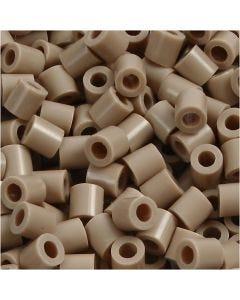 Bügelperlen, Größe 5x5 mm, Lochgröße 2,5 mm, medium, Beige (32248), 6000 Stck./ 1 Pck.