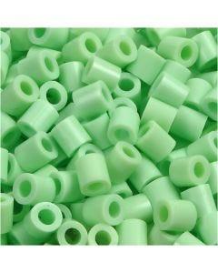 Bügelperlen, Größe 5x5 mm, Lochgröße 2,5 mm, medium, Pastellgrün (32252), 1100 Stck./ 1 Pck.