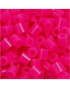 Bügelperlen, Größe 5x5 mm, Lochgröße 2,5 mm, medium, Pink (32258), 1100 Stck./ 1 Pck.