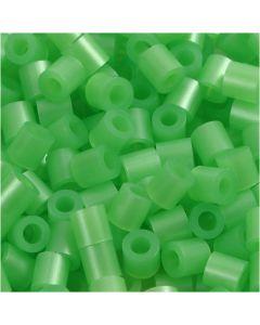 Bügelperlen, Größe 5x5 mm, Lochgröße 2,5 mm, medium, Perlmuttgrün (32240), 1100 Stck./ 1 Pck.