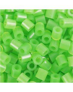 Bügelperlen, Größe 5x5 mm, Lochgröße 2,5 mm, medium, Neongrün (32237), 1100 Stck./ 1 Pck.