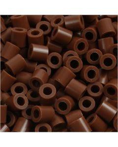 Bügelperlen, Größe 5x5 mm, Lochgröße 2,5 mm, medium, Schokolade (32249), 6000 Stck./ 1 Pck.
