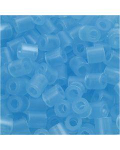 Bügelperlen, Größe 5x5 mm, Lochgröße 2,5 mm, medium, Neonblau (32235), 6000 Stck./ 1 Pck.