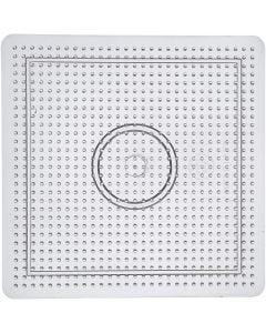 Steckbrett, Größe 14,5x14,5 cm, Transparent, 1 Stck.