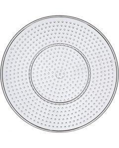 Steckbrett, Großer Kreis, D: 15 cm, Transparent, 1 Stck.