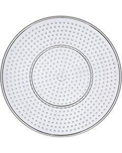 Steckbrett, große runde, D: 15 cm, Transparent, 10 Stck./ 1 Pck.