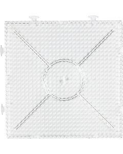 Steckbrett, großes Kombi-Quadrat, Größe 15x15 cm, Transparent, 1 Stck.