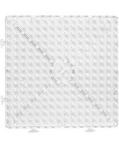 Steckplatte, Großes Quadrat, Größe 15x15 cm, JUMBO, Transparent, 1 Stck.