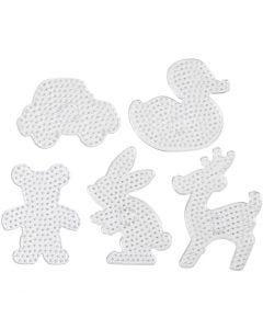 Steckplatten, Größe 16x19,5-19x24 cm, JUMBO, Transparent, 5 Stck./ 1 Pck.