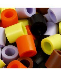 Bügelperlen, Größe 10x10 mm, Lochgröße 5,5 mm, JUMBO, Herbst-mix, 550 sort./ 1 Pck.