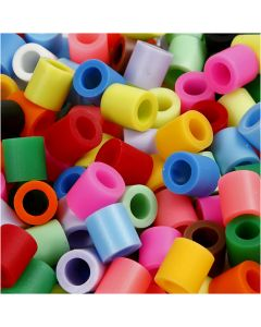 Bügelperlen, Größe 10x10 mm, Lochgröße 5,5 mm, JUMBO, Zusätzliche Farben, 3200 sort./ 1 Pck.