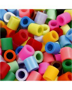 Bügelperlen, Größe 10x10 mm, Lochgröße 5,5 mm, JUMBO, Zusätzliche Farben, 550 sort./ 1 Pck.