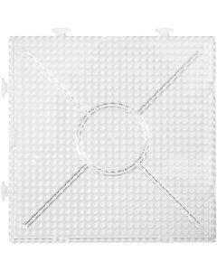 Steckbrett, Größe 15x15 cm, Transparent, 2 Stck./ 1 Pck.