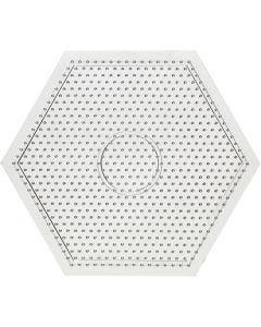 Steckplatte, Größe 15x15 cm, Transparent, 1 Stck.