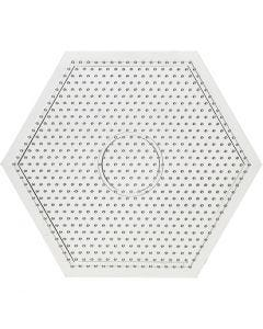 Steckbrett, Großes Sechseck, Größe 15x15 cm, 10 Stck./ 1 Pck.
