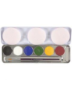 Eulenspiegel Gesichtsschminke, Sortierte Farben, 6 Farbe/ 1 Set
