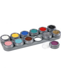 Grimas Gesichtsschminke - Farbpalette, Sortierte Farben, 12x2,5 ml/ 1 Stck.