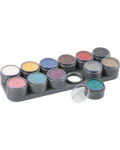 Grimas Gesichtsschminke - Farbpalette, Sortierte Farben, 12x15 ml/ 1 Stck.