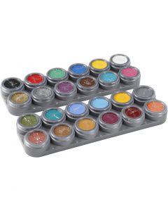 Grimas Gesichtsschminke - Farbpalette, Sortierte Farben, 24x2,5 ml/ 1 Stck.