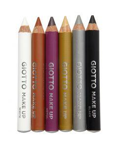 Schminkstifte, Sortiment, L: 9 cm, Zusätzliche Farben, 6 Stck./ 1 Pck.