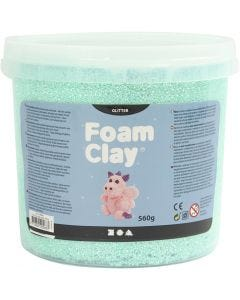 Foam Clay® , Glitter, Hellgrün, 560 g/ 1 Eimer
