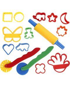 Ausstechförmchen und Werkzeug, Größe 3,5x3,5-7x9 cm, Sortierte Farben, 15 Stck./ 1 Pck.