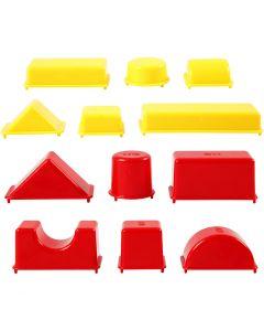 Sandförmchen, Geometrische Formen, Größe 3,5-9,5 cm, 12 Stck./ 1 Pck.