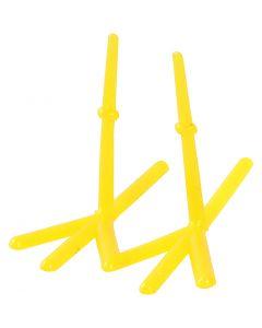 Hühner-Füße, H: 28 mm, L: 37 mm, Gelb, 50 Stck./ 1 Pck.