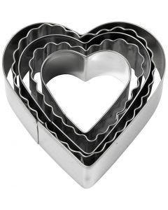 Ausstechförmchen, Herz, Größe 8 cm, 5 Stck./ 1 Pck.
