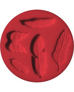 FIMO® Motiv-Formen, Federn, D: 7 cm, 1 Stck.