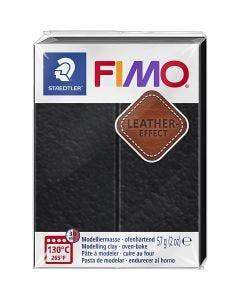 FIMO® Leder-Effekt, Schwarz (909), 57 g/ 1 Pck.
