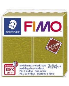 FIMO® Leder-Effekt, Olive (519), 57 g/ 1 Pck.